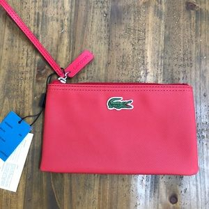 Lacoste clutch / wristlet new with tags